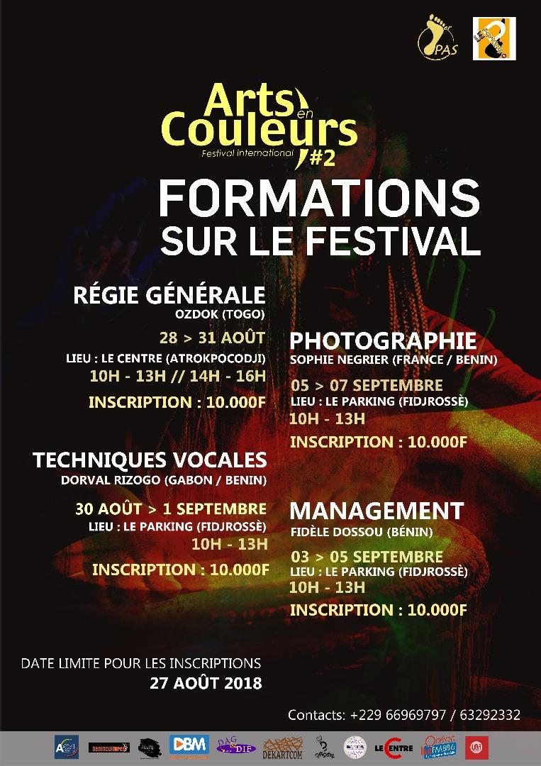 Formation _ Régie générale  (Festival Arts en Couleurs #2)