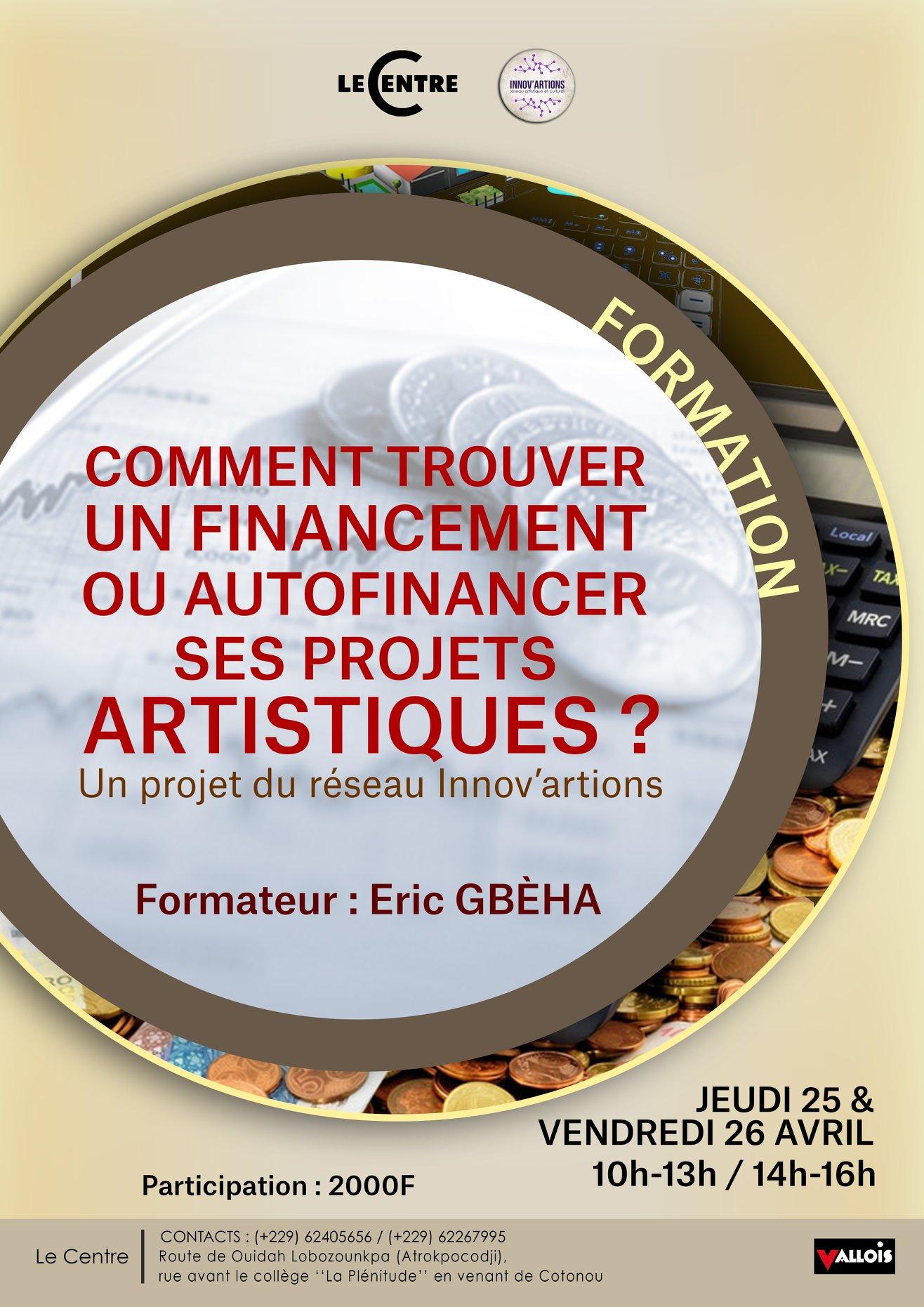 Formation, Financement de projets artistiques