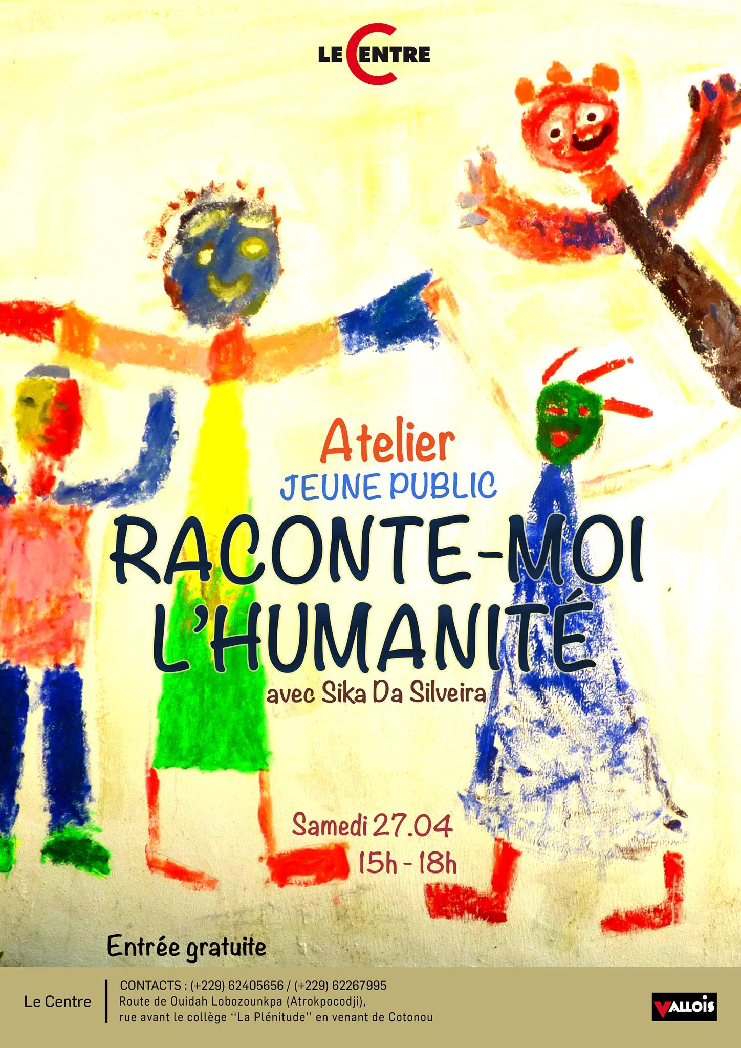 Atelier Raconte moi l'humanité, avec Sika Da Silveira