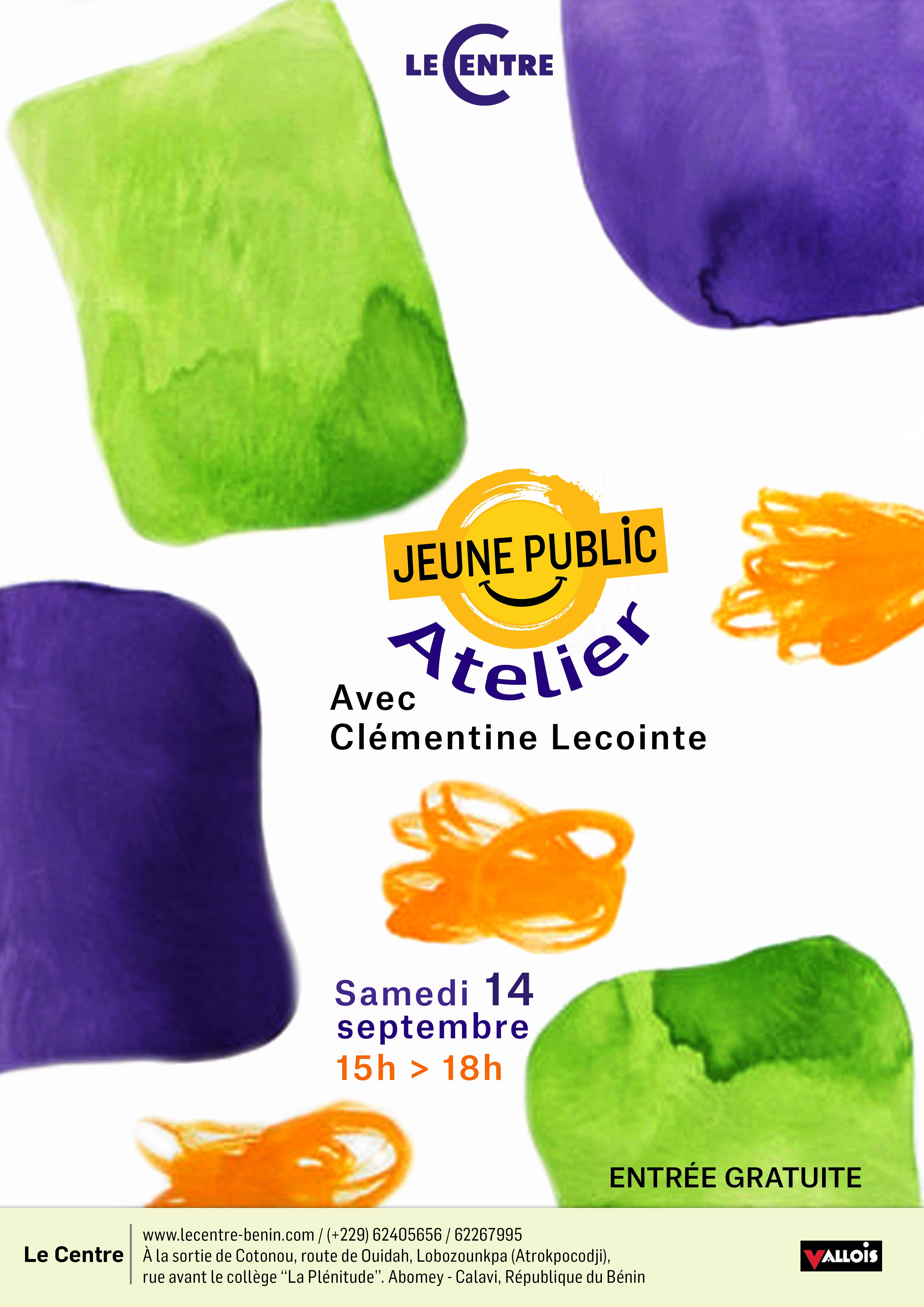 Atelier jeune public, avec Clémentine Lecointe