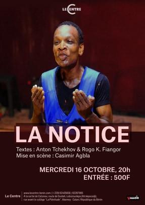 Théâtre, La notice