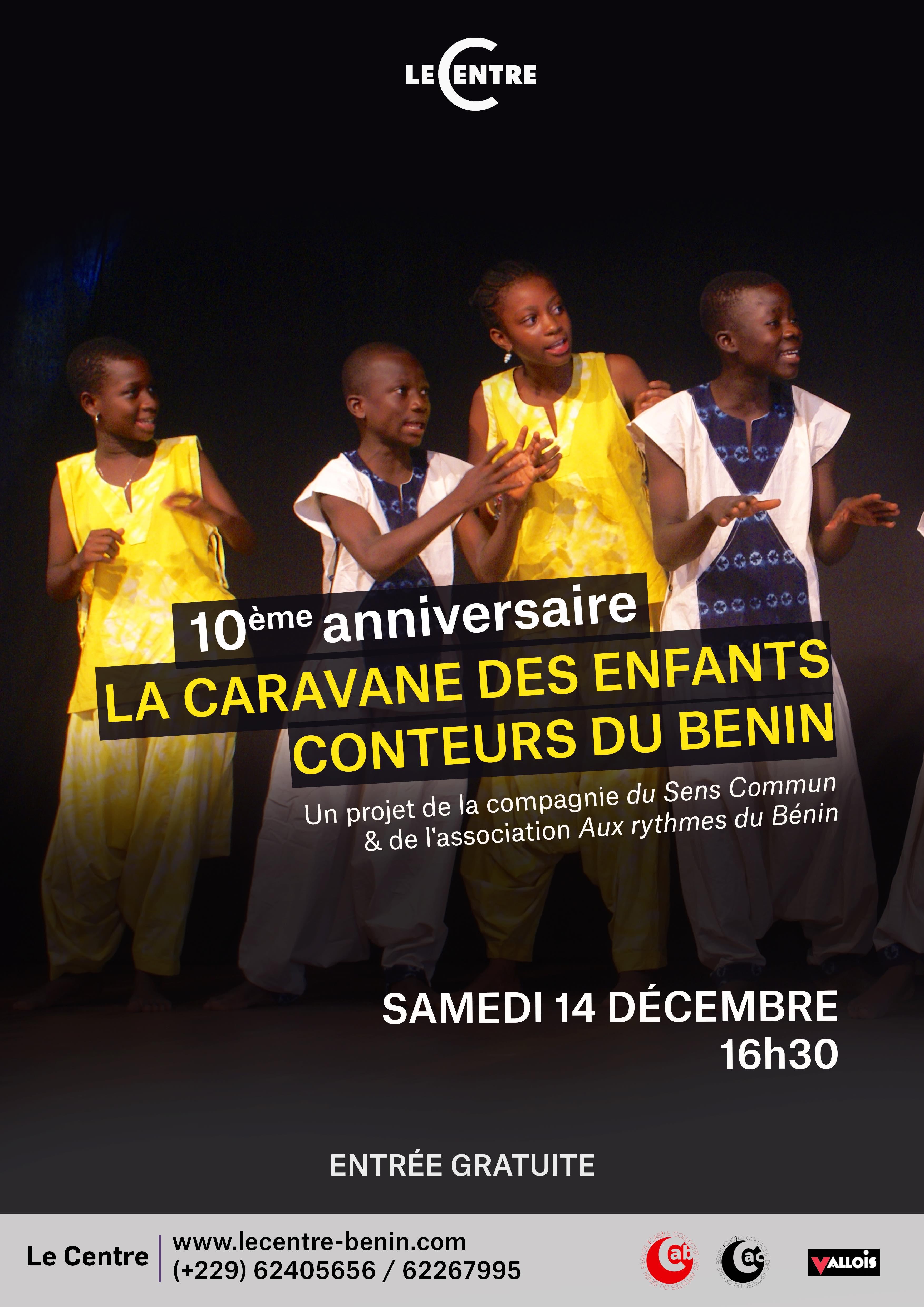 Soirée conte, La caravane des enfants conteurs du Benin