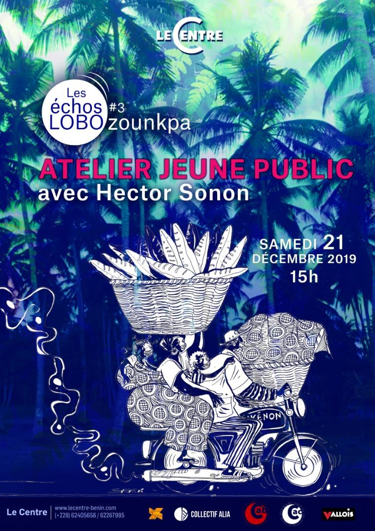 Atelier jeune public, Hector Sonon