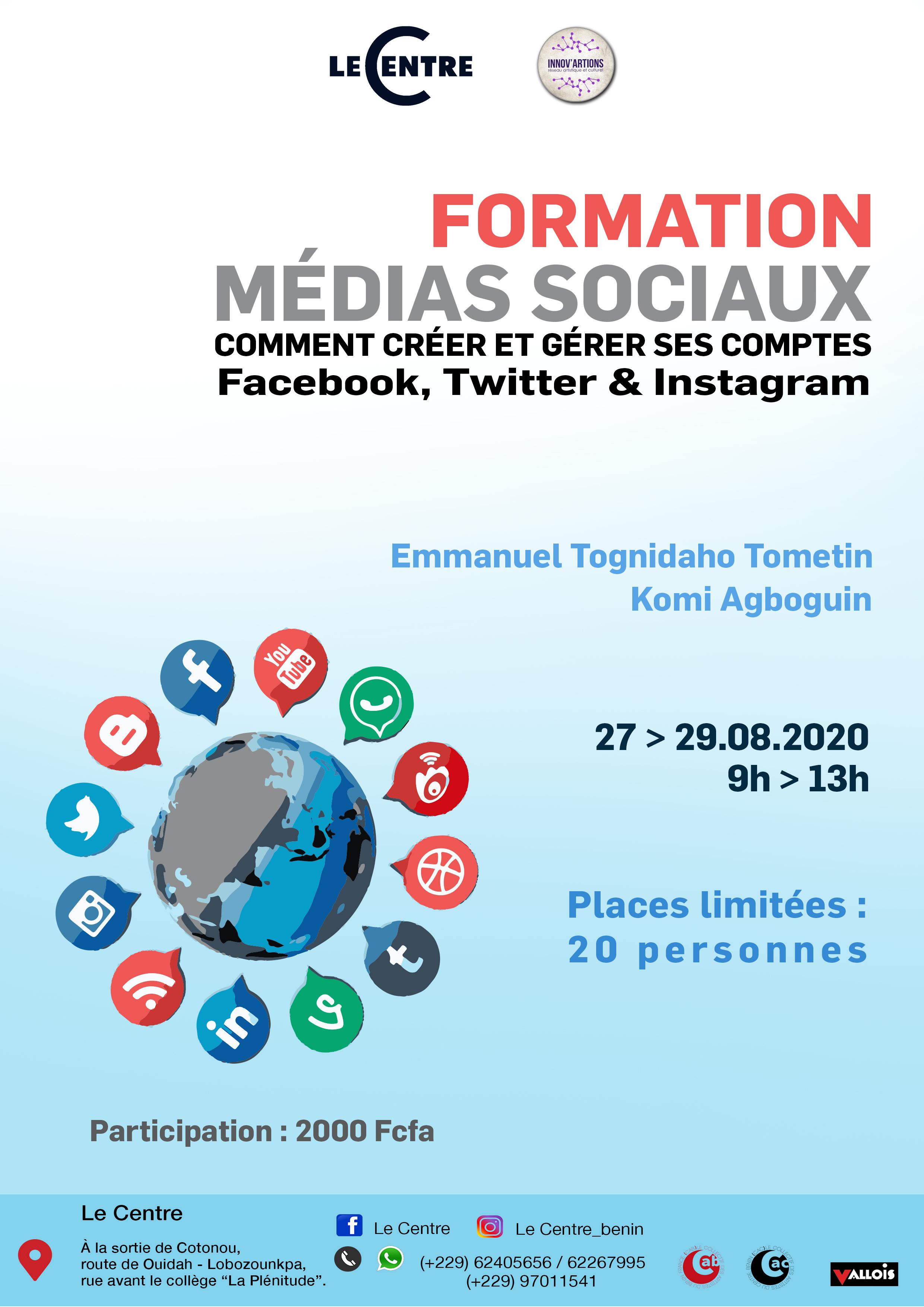 Formation:Comment créer et gérer ses comptes médias sociaux?