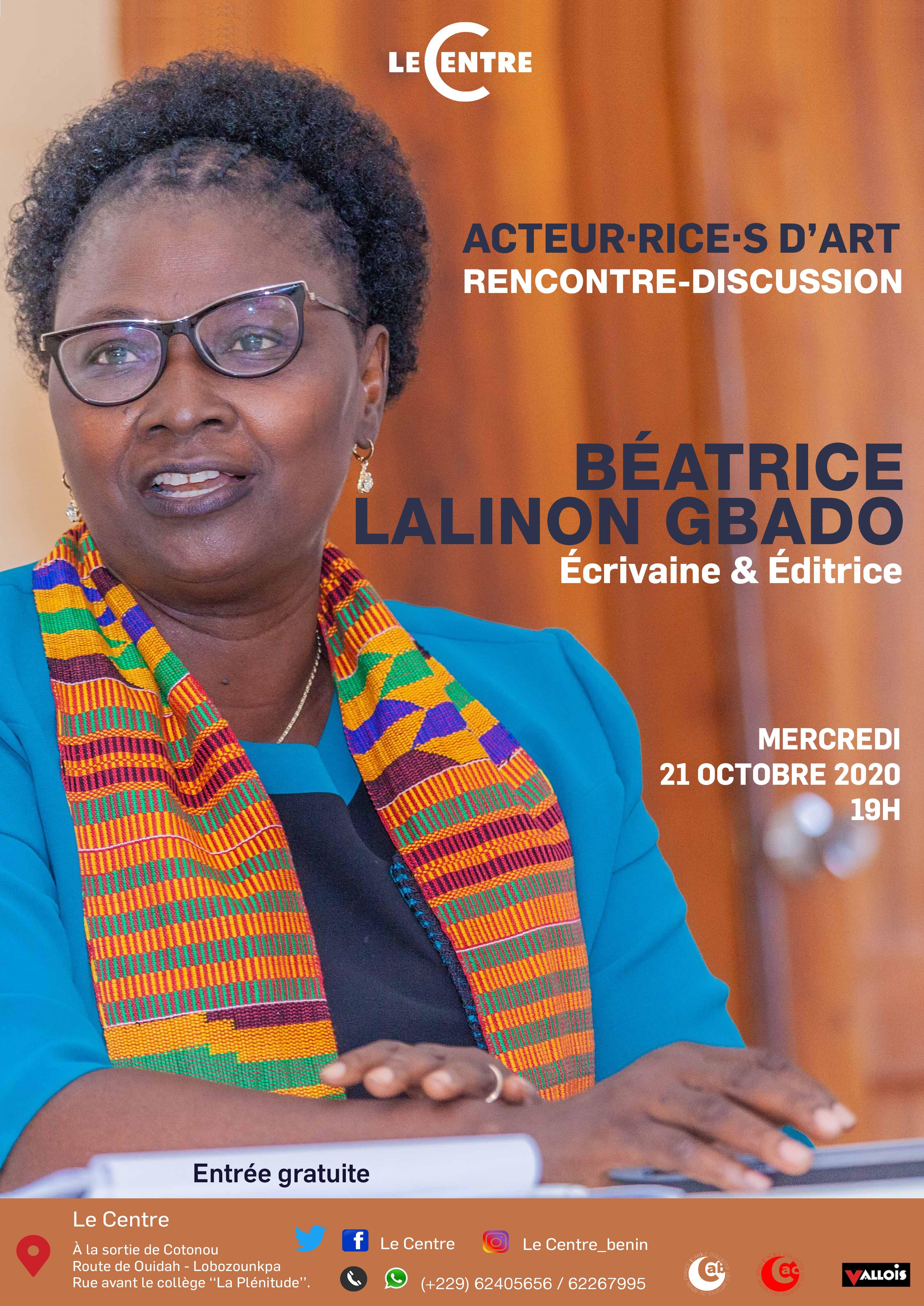 Le Débat Littéraire, Béatrice Lalinon Gbado
