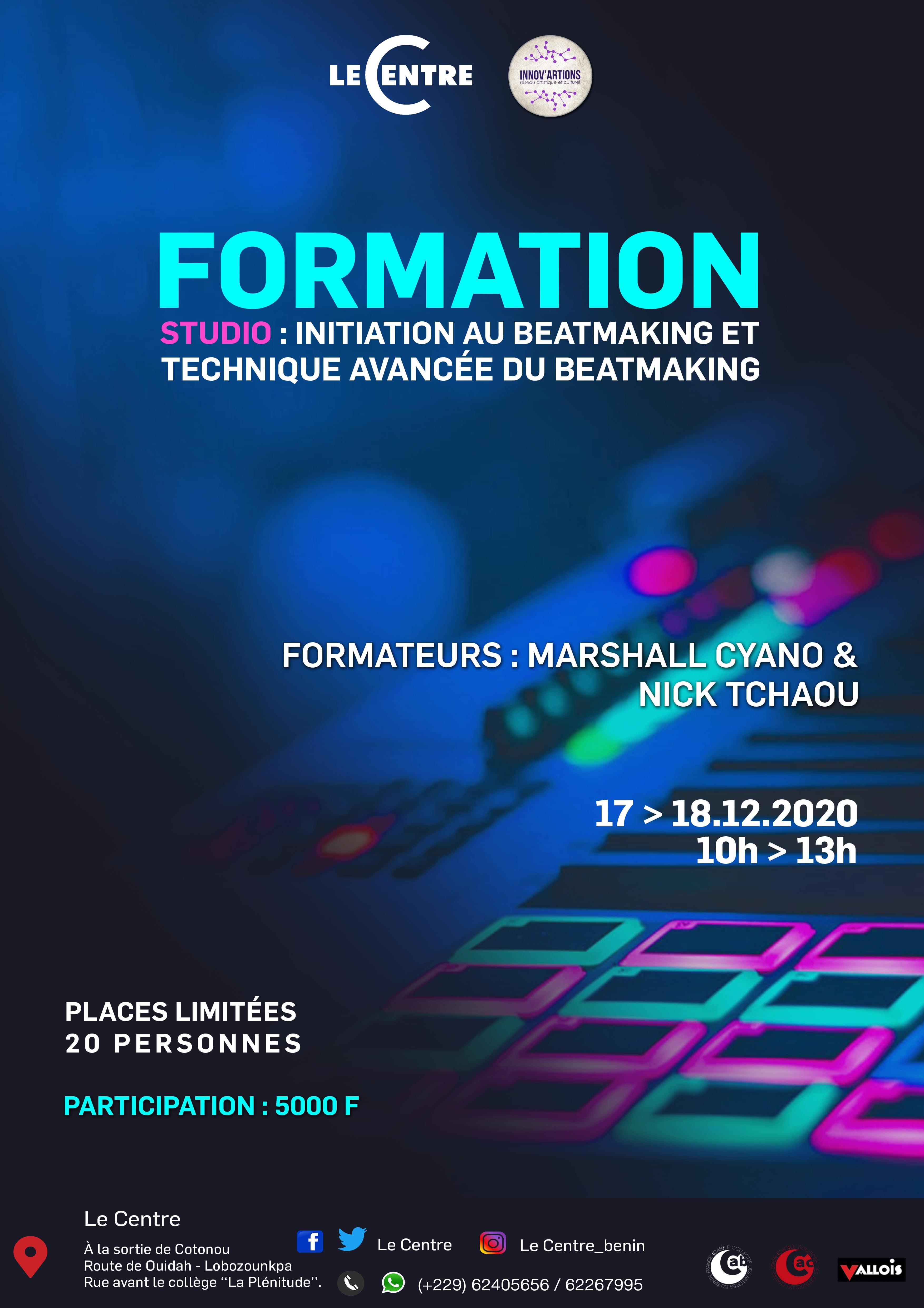 Formation studio :  beatmaking