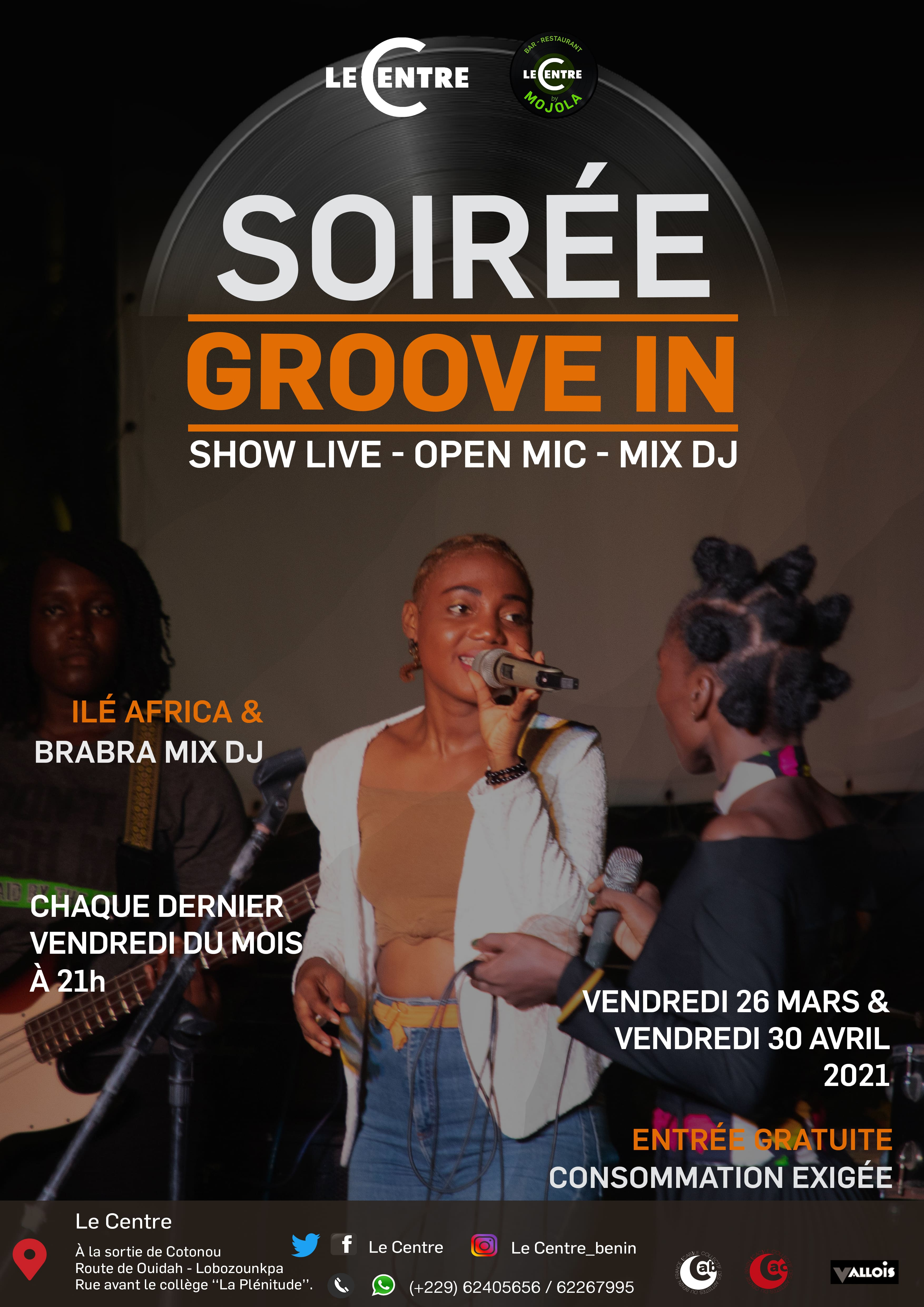 Soirée Groove In, Le Centre by Mojola