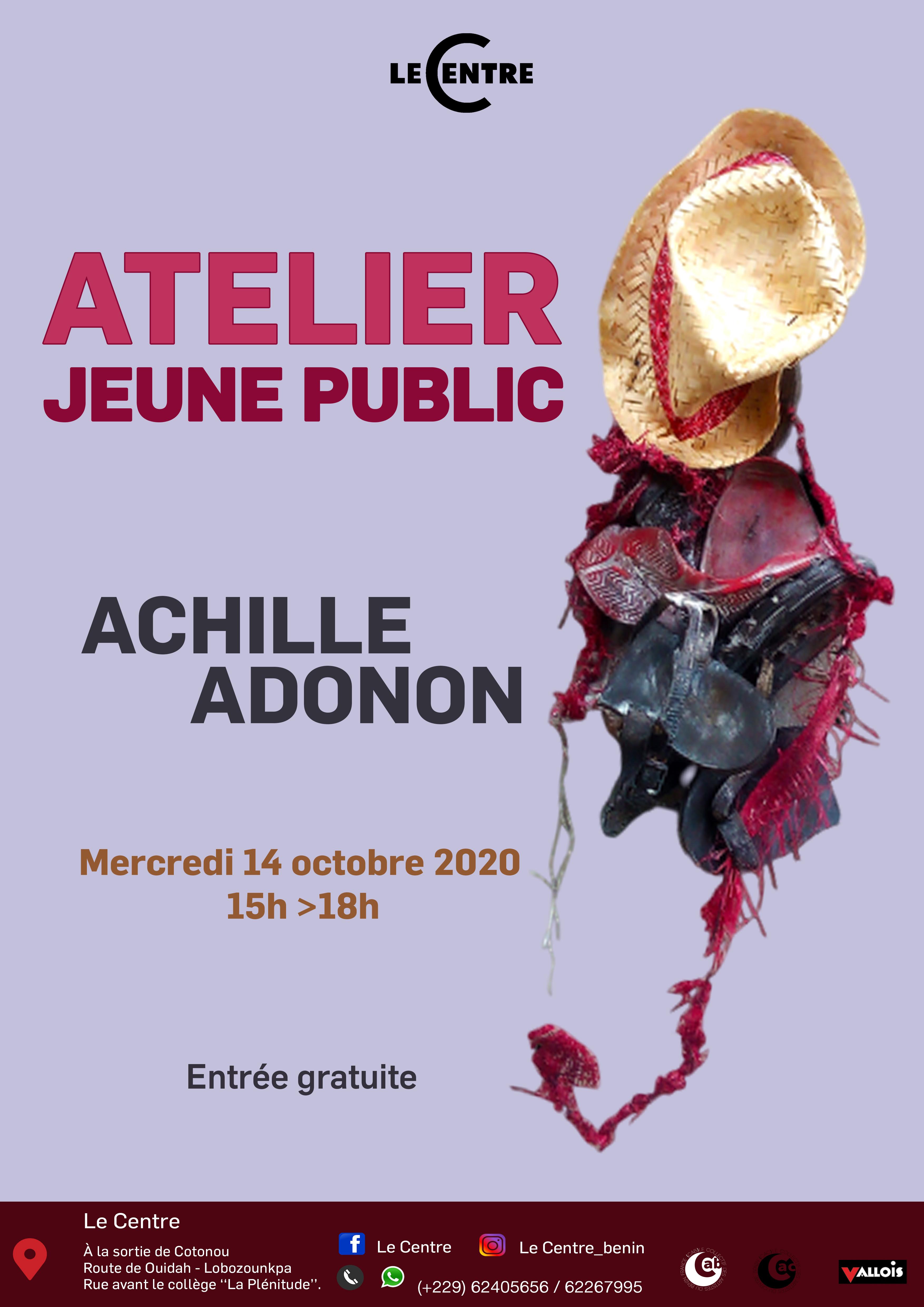 Atelier jeune public, Achille Adonon