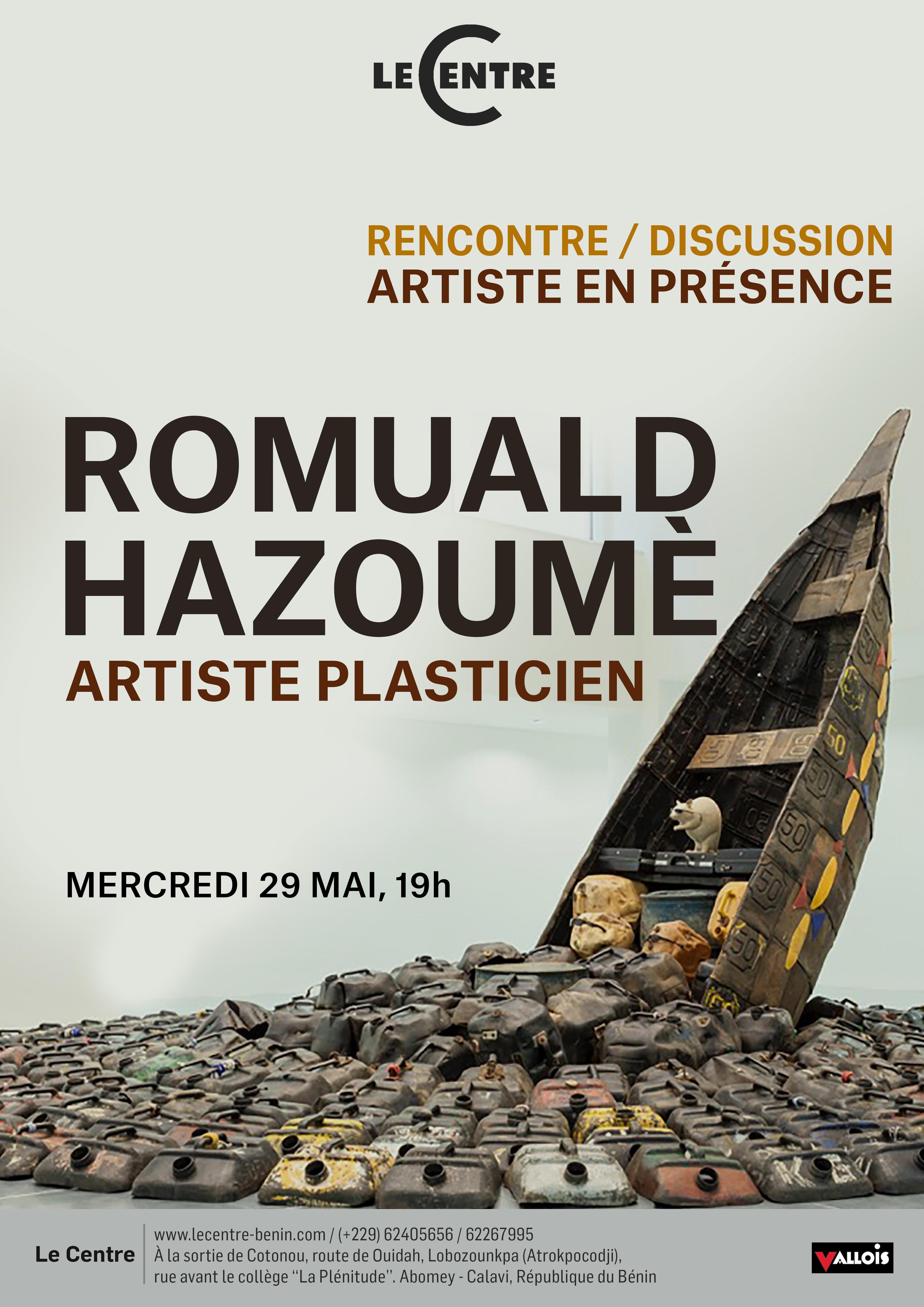 Artiste en présence, Romuald Hazoumè