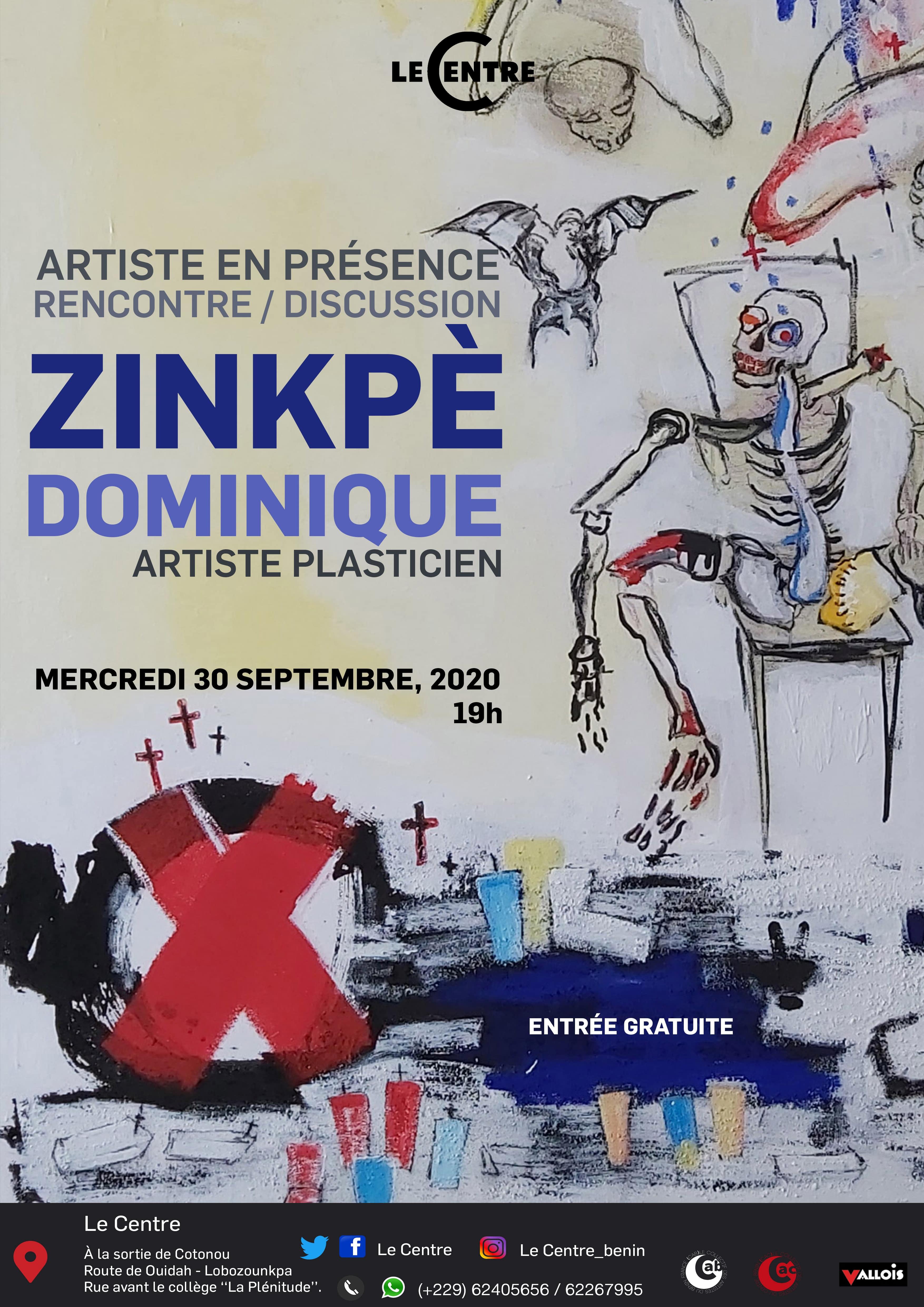 Artiste en présence, Dominique Zinkpè