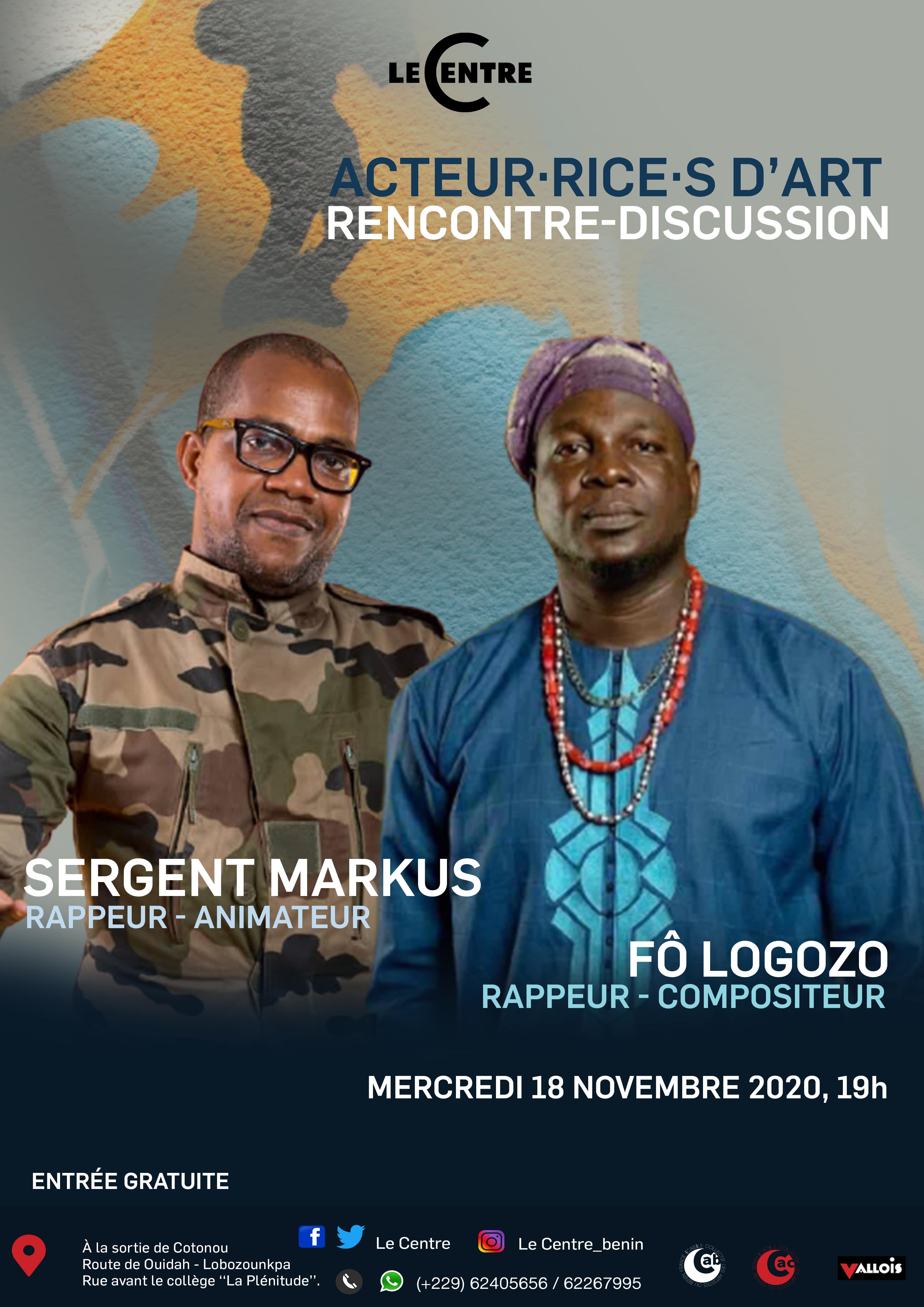 Acteur·rice·s d'art, Sergent Markus et Fô Logozo