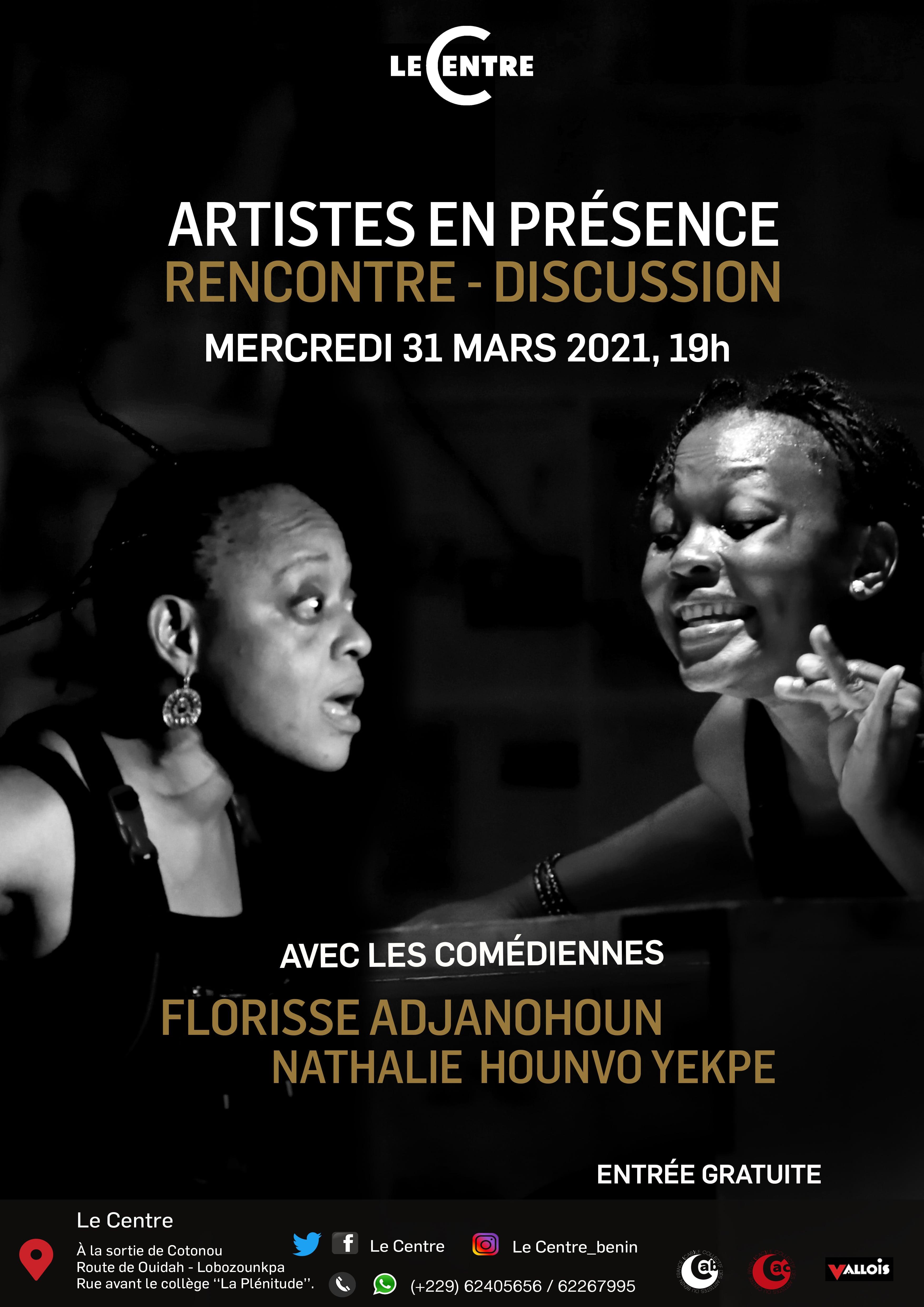 Artistes en présence, N. Hounvo Yekpe et F. Adjanohoun