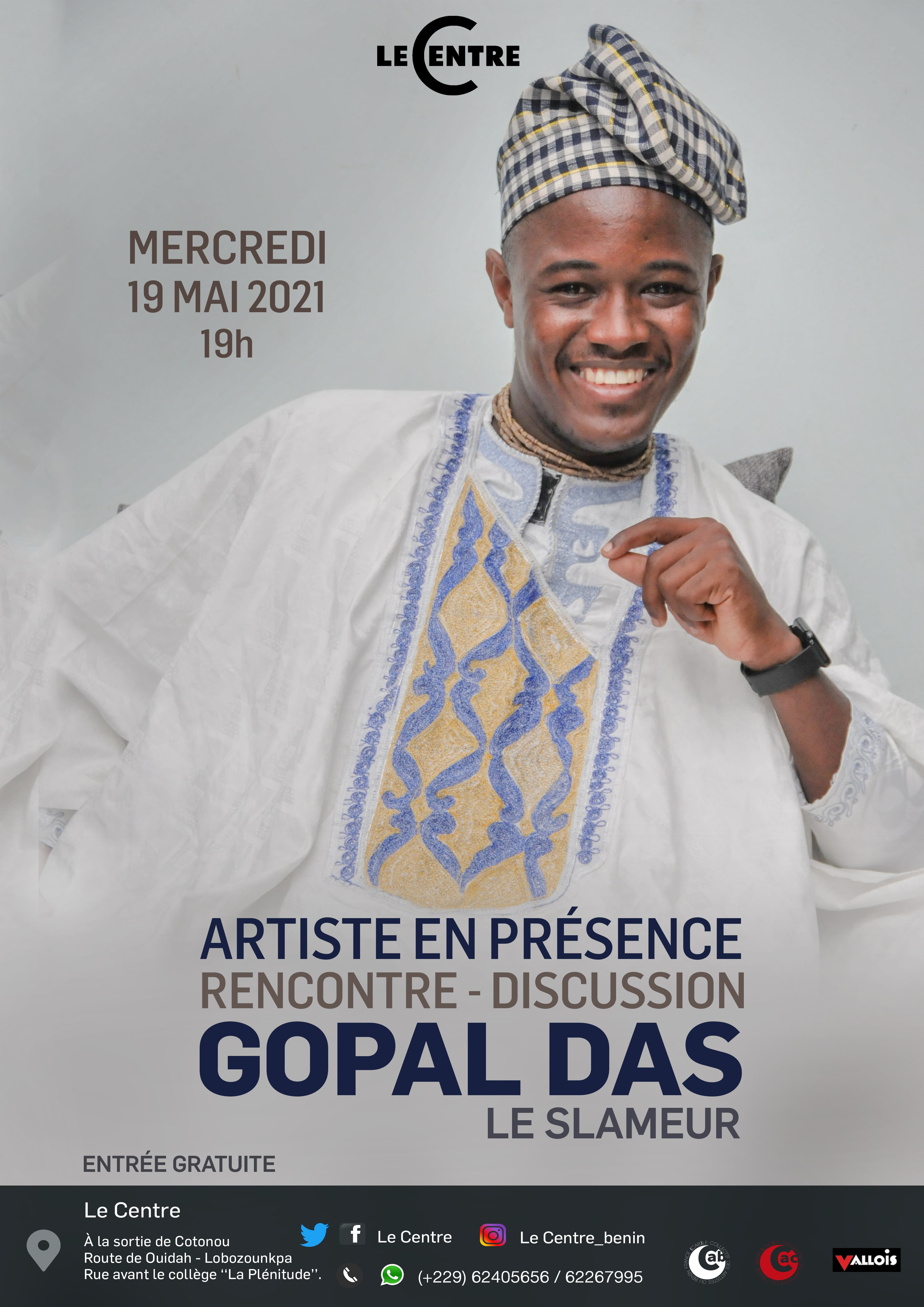 Artiste en présence, Gopal Das Le slameur